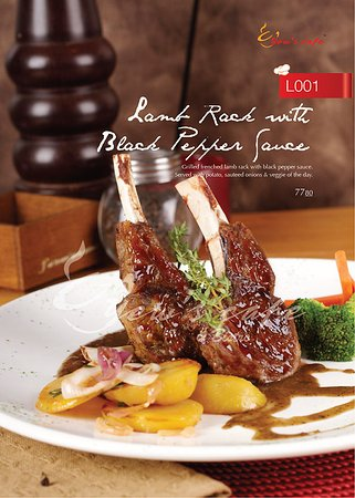 Johor Bahru District, Μαλαισία: Lamb Rack with Black Pepper Sauce