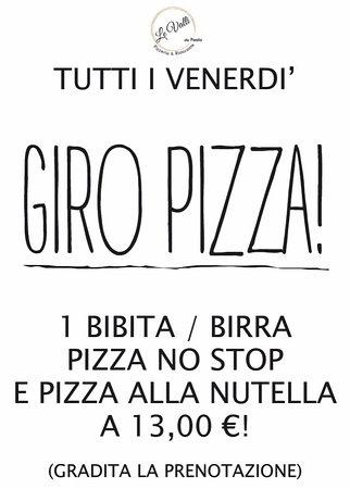 Villanova Mondovi, Italy: Tutti i venerdì giro pizza