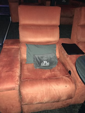 iPic Theaters : Pillow, blanket, & cozy lounging chair