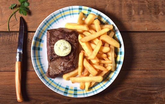 Jaux, France: Steak frites 9.90€