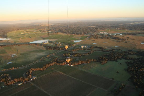 Lovedale, Australia: With all balloons in the air enjoying the sunrise, you can see the shadows on the ground