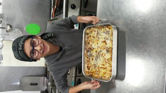 Monfalcone, Italie : Pasticcio con radicchio tardivo di Treviso dello chef  Raoul.  R