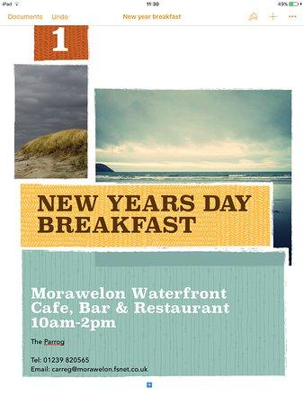 Morawelon Restaurant Parrog Menu