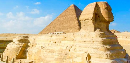 Real Egypt Day Tours: The Great Sphinx is a large human-headed lion that was carved from a mound of natural rock. It i