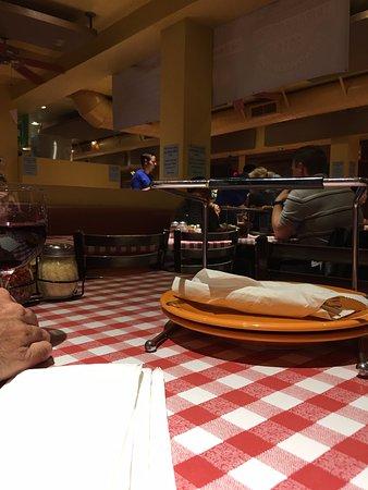 Billu0027s Pizza: Yup Checker Table Cloths And Fun Fiesta Ware.