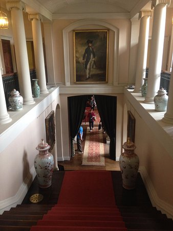 Melford Hall: Another view of the main staircase.