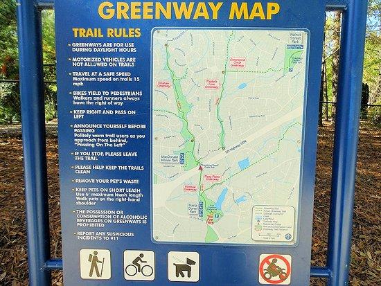 Cary, NC: greenway map