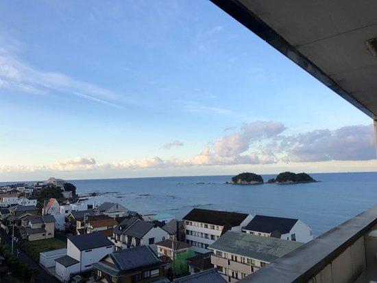 Asahirou : 最上階廊下からの眺め、反対の風呂からも同様な眺めです、良い展望風呂でした