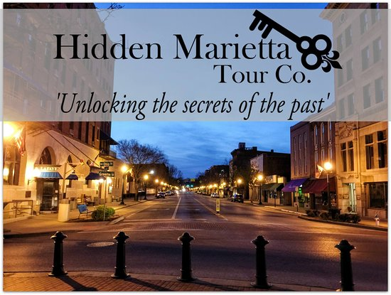 Join us to on a walking tour or special event to explore the hidden history of Marietta