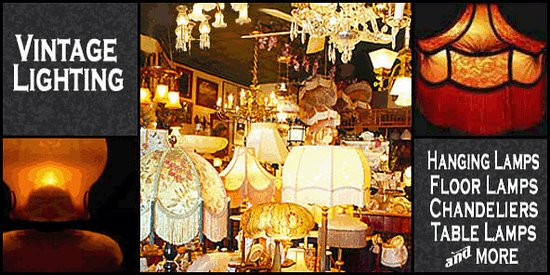 The antique lamp co and gift emporium restored vintage lighting of all kinds