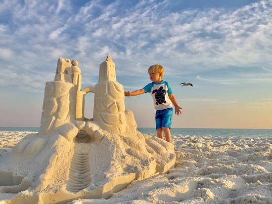 Beach Sand Sculptures - Picture of SandCastle Lessons ...
