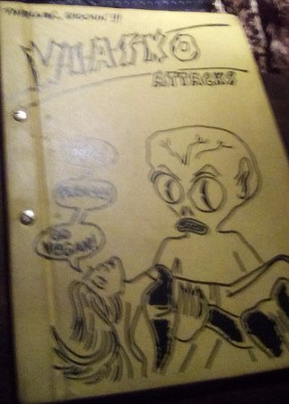 Viasko: This is their menu cover.