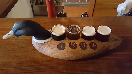 Danville, Pensilvania: Beer flight