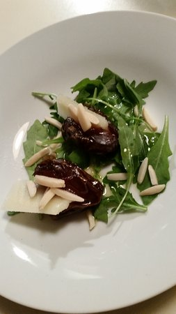 Pawcatuck, CT: Dates, Peccorino Cheese, Arugula, Nuts with our UP Extra Virgin Olive Oil & Cranberry Pear Balsa