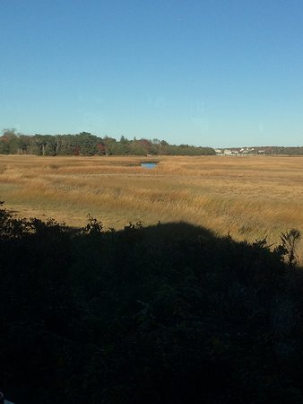 East Dennis, MA: View of marshes from inside the restaurant