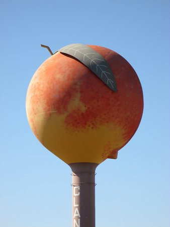 Clanton Peach Water Tower (close up)