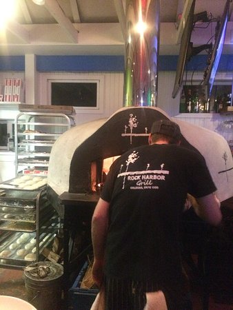 Orleans, MA: Master chef at the brick oven