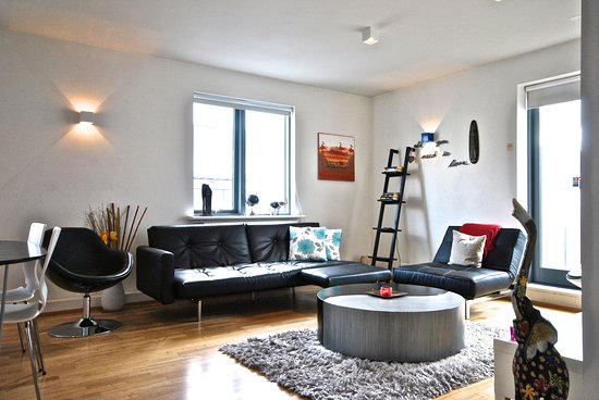 Reykjavik4you Apartments Hotel: Two Bedrooms Apartment (accommodation max 5 adults) - Living room with sleeping sofa