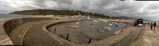 Lyme Regis, UK: View of Lyme Harbour from The Cobb
