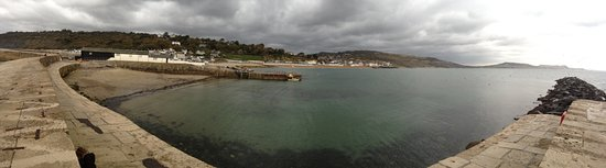 Lyme Regis, UK: Looking back at Lyme from The Cobb