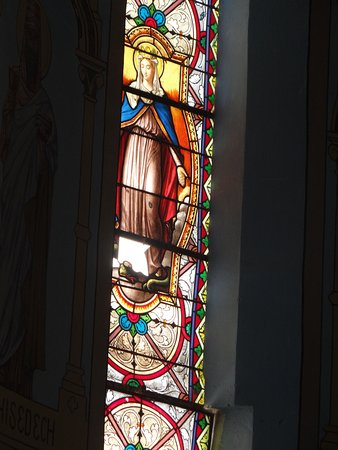 St. Joseph's Roman Catholic Cathedral: Centuries old glass panels