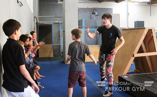 Murrieta, CA: A Freedom in Motion coach instructing his kids beginners class.