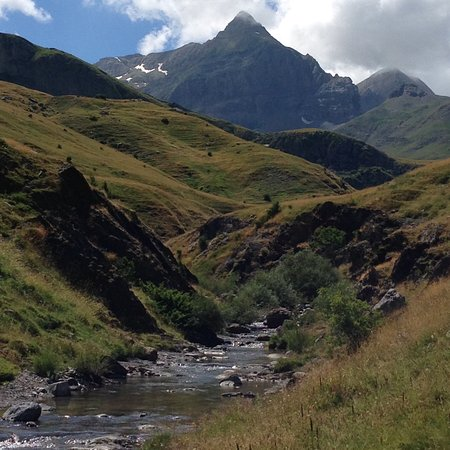 Biescas, Spain: One of the rivers we fished in the Spanish Pyrenees.