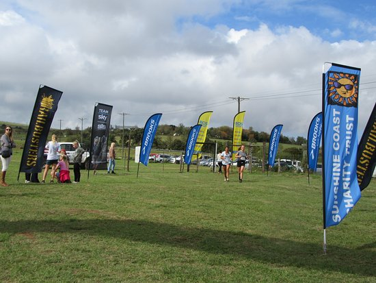 Nanaga, South Africa: Runners finishing line