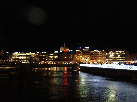 Hotel d'Angleterre: ночная Женева