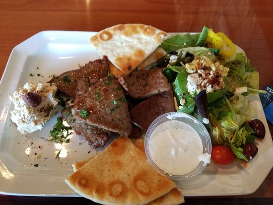 Anderson, SC: Moroccan Kabobs Platter. YUM!
