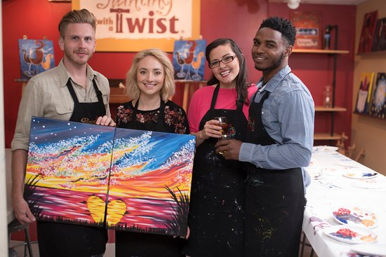 Painting With A Twist Fort Worth Date Night Featuring Couples Paintings That Can Be