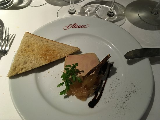 restaurant l alsace terrine d foi gras superb texture and