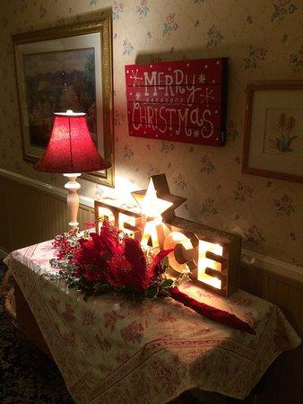 Beautiful seasonal decor in the hallway Picture of Apple Farm Inn
