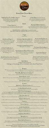 Woodstock, CT: Dinner Menu