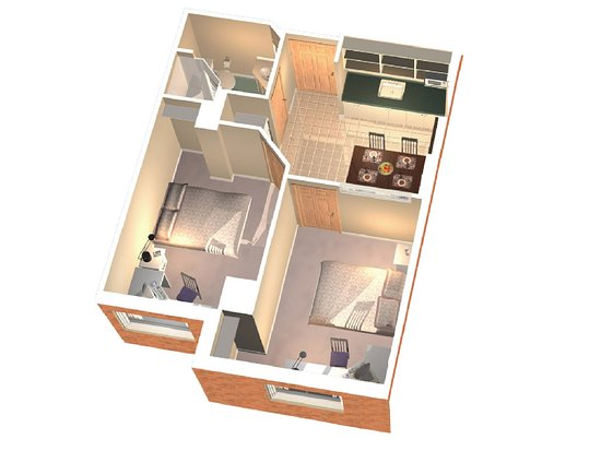 Residence & Conference Centre - Toronto: Two-Bedroom Suite Layout