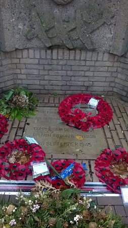 Oosterbeek, The Netherlands: Allied Memorial, across the Utrechtseweg from the Villa.
