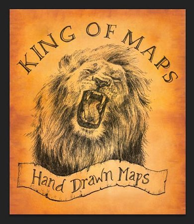 Vintage hand drawn maps from around the world Picture of King