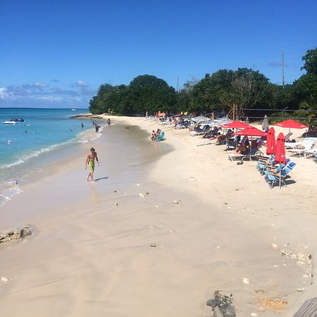 Frederiksted, St. Croix: Busy beach day when the Cruise Ship is in port, which is not often