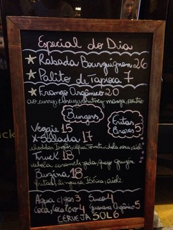 buzina food truck menu
