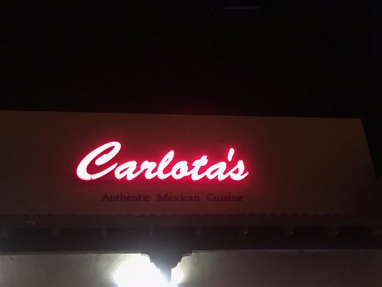 Oro Valley, AZ: Carlota's sign at night