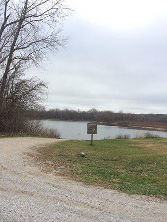 Johnston, IA: Boat ramp below the dam