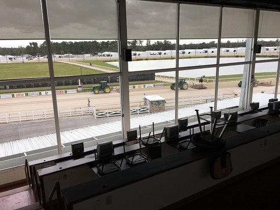 Vinton, LA: Just part of the view from the buffet at Delta Downs   A really great view with some really grea
