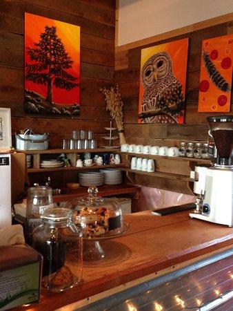 North Saanich, Canada: Fickle Fig Farm - coffee bar