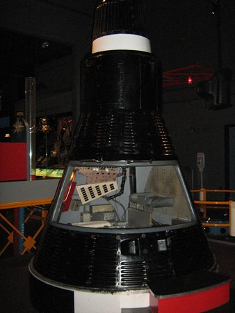U.S. Astronaut Hall of Fame: Mercury Capsule that you can get up and close....Take a look at the cramped conditions.