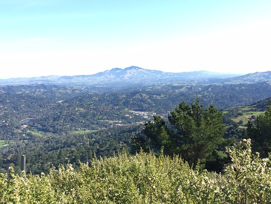 Berkeley, CA: Mt Diablo from up on the top near the power station