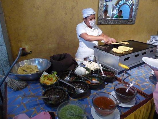 Mision de Los Angeles: breakfast fresh made quesadillas