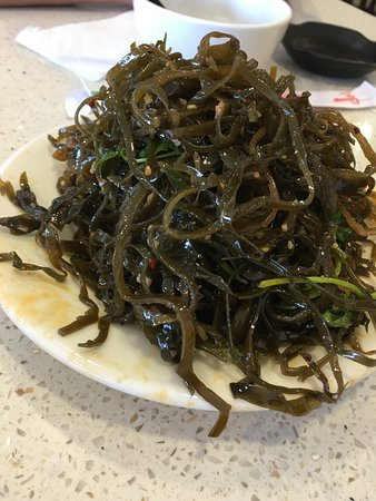 Monrovia, CA: seaweed salad in chili garlic sauce