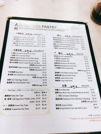Monterey Park, Kaliforniya: menu