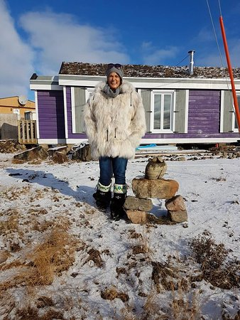 Iqaluit, Kanada: Fox jacket.