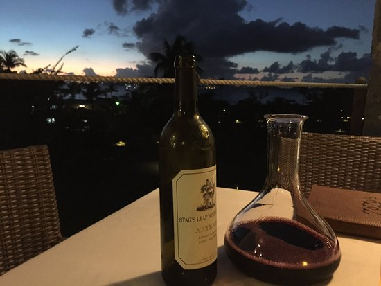 Caneel Bay, St. John: Good value wine with a world class meal.